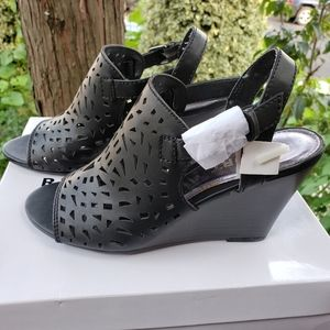 Report Black Wedges Shoes